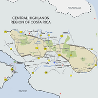 Costa Rica Central Highlands Map