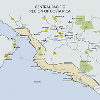 Costa Rica Central Pacific Map