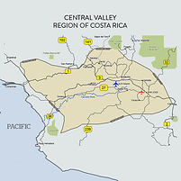Costa Rica Central Valley Map