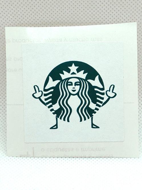 """F*** You, Starbucks!"" Sticker"