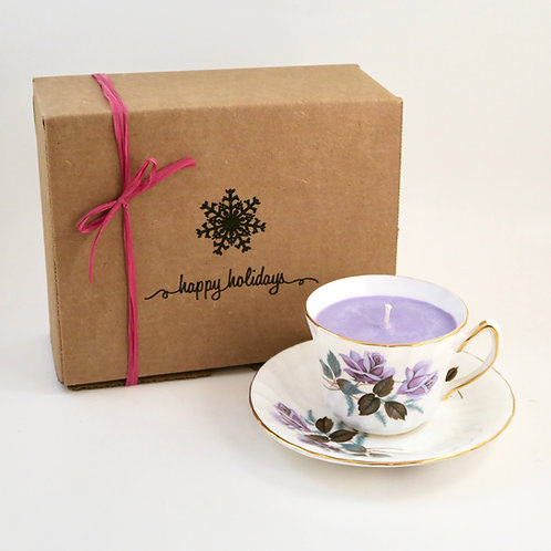 Teacup Candle Holiday Box (J)