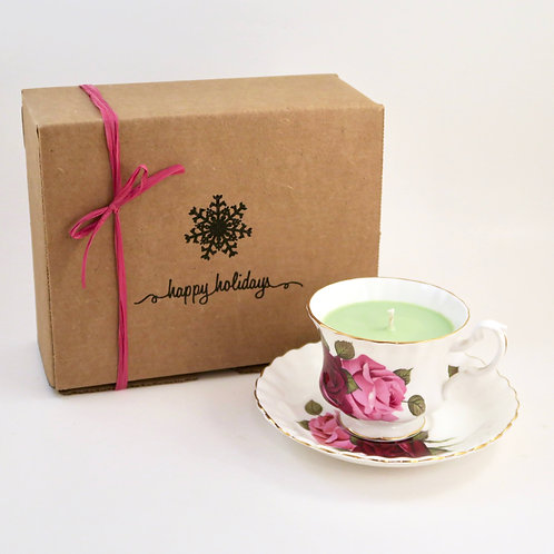 Teacup Candle Holiday Box (C)