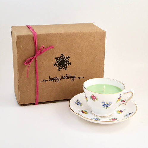 Teacup Candle Holiday Box (D)