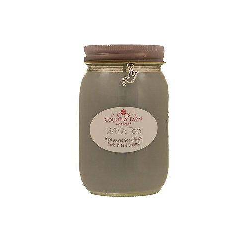 White Tea Charm Jar - Large