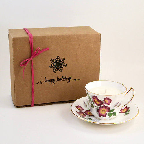 Teacup Candle Holiday Box (G)