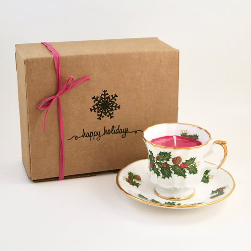 Teacup Candle Holiday Box (B)