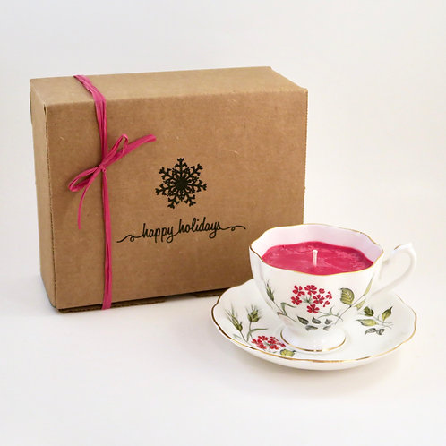 Teacup Candle Holiday Box (A)