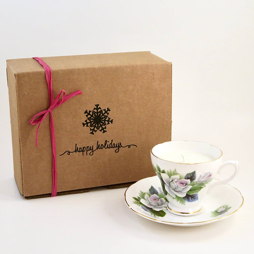 Teacup Candle Holiday Box (H)