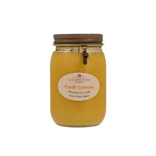 Fresh Lemons Charm Jar - Large