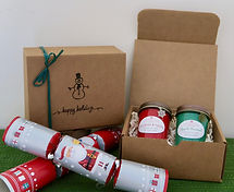 Happy Holidays Snowman Gift Box Country