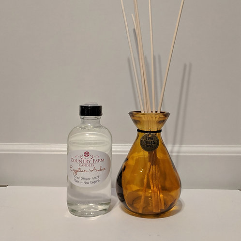 Egyptian Amber Reed Diffuser Set