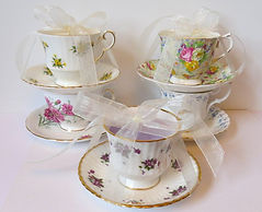 Soy Candles in Bone China Teacups