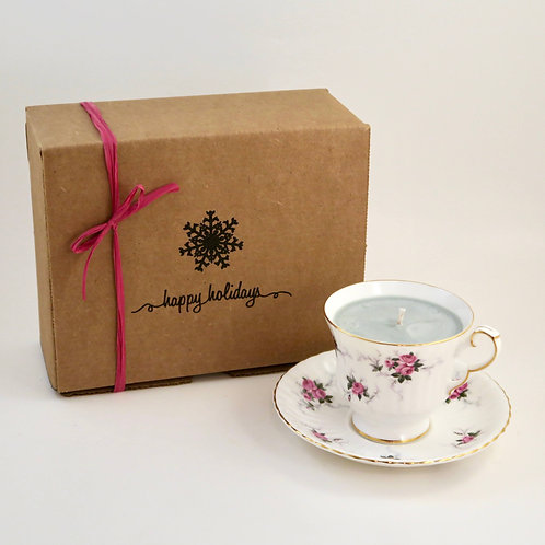 Teacup Candle Holiday Box (F)