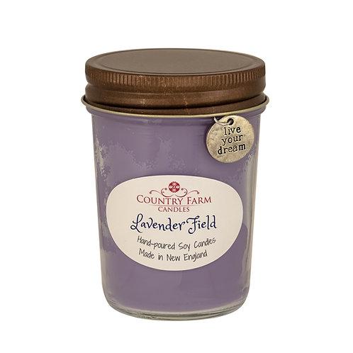 Lavender Field Charm Jar