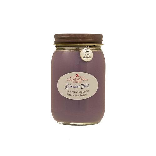 Lavender Field Charm Jar - Large