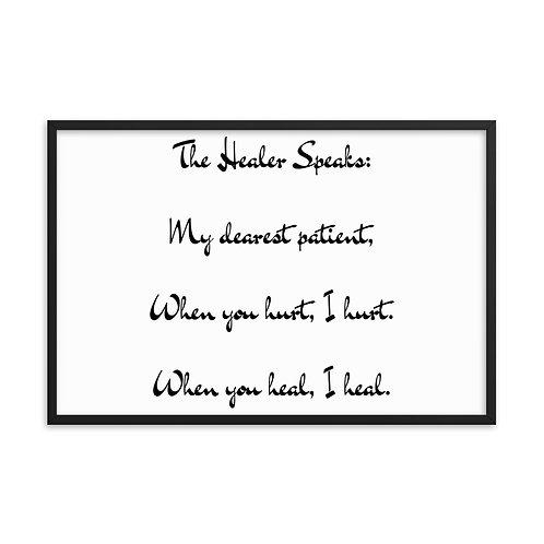 Framed poster: The Healer Speaks 4