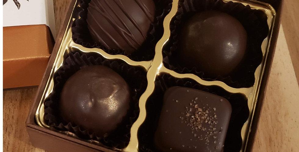 Vegan Dark Chocolate Truffle Collection