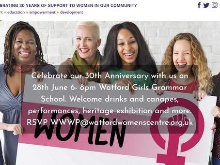 Watford Women's centre 30 Years Anniversary