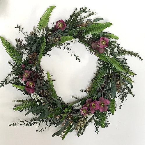 Large Holiday Wreath (Choose Your Color)