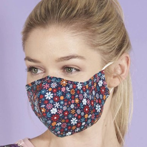 Eco Chic Reusable Face Mask Black Ditsy