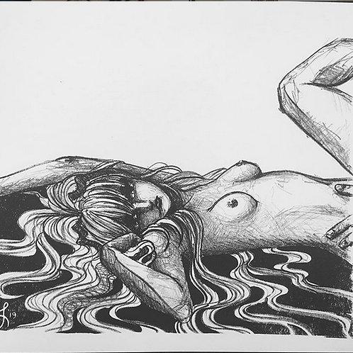 'Yushimi' Original Lithograph Print 5/5