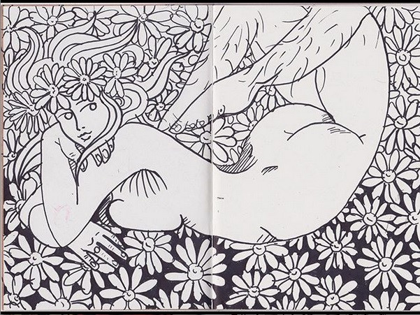 Notebook Lounging Nude #1, 2018