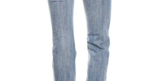 Angel Wing Rhinestone Embellished 5 Pocket Boot Cut Jeans