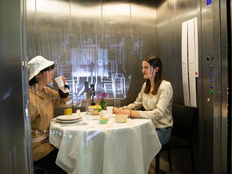 Elevator dinner party