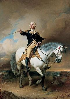 Portrait-of-george-washington-taking-the