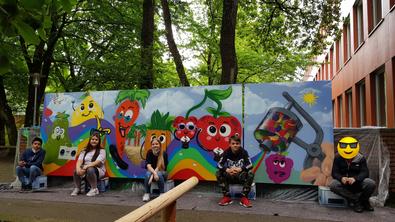 Schulwand mit Graffiti besprüht- Sprayer sind identifiziert…