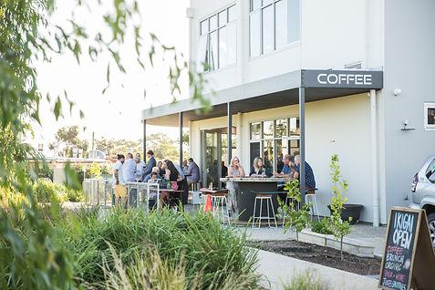 Ikigai Cafe outdoor seating.