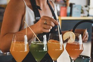 Bright, fun cocktails