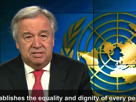 Secretary-General António Guterres calls for translating the words of the Universal Declaration of H