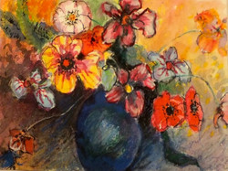 "Watercolor, ""Spring Bouquet"""
