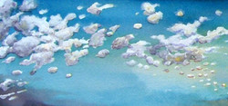 """Watercolor, """"Clouds"""""""