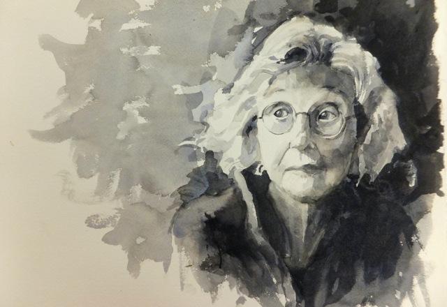 """Watercolor, """"Anna Mam"""""""