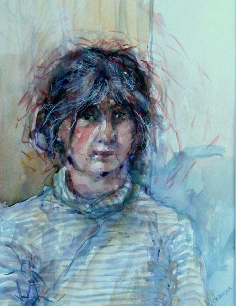 """Watercolor, """"Cathy"""""""