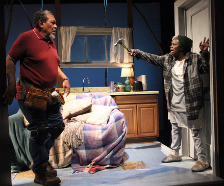 Steven Anthony Jones and Nancy Moricette as Abasiama and Azell in In Old Age