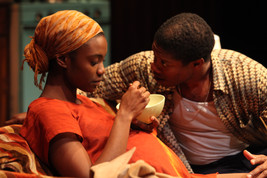 Katherine Turner and Jarrod Smith as Abasiama and Ukpong in Sojourners