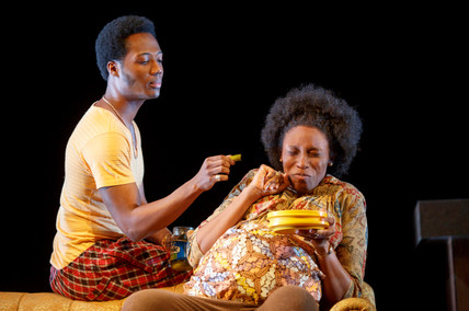 Hubert Point Du-Jour and Chinasa Ogbuagu as Ukpong and Abasiama in Sojourners