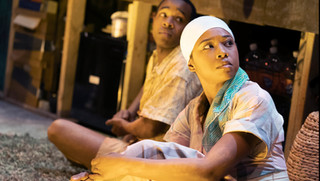 Karl Green and Adrianna Mitchell as Sister and Boy in runboyrun
