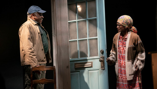 Ron Canada and Patrice Johnson as Azell and Abasiama in In Old Age