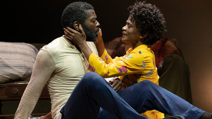 Chike Johnson and Patrice Johnson as Disciple and Abasiama Ufot in runboyrun