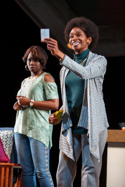 Adepero Oduye and Jenny Jules as Iniabasi and Abasiama in Her Portmanteau