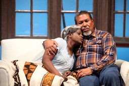 Nancy Moricette and Steven Anthony Jones as Abasiama and Azell in In Old Age