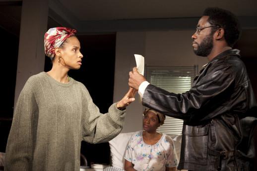 Lakisha May, Chinasa Ogbuagu and Chinaza Uche as Moxie, Abasiama and Disciple in Sojourners