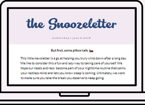 Introducing The Snoozeletter!