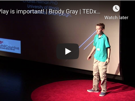 Play is important! | Brody Gray | TEDxYouth@Columbus
