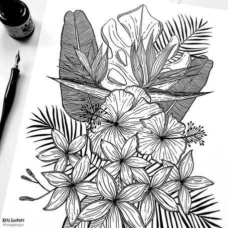 Tropical-Ink-Drawing-Sydney-Illustrator-