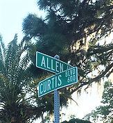 at the corner of Curtis and Allen